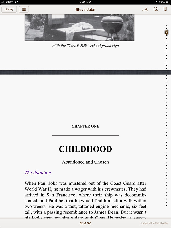 The new scrolling feature in iBooks 3.