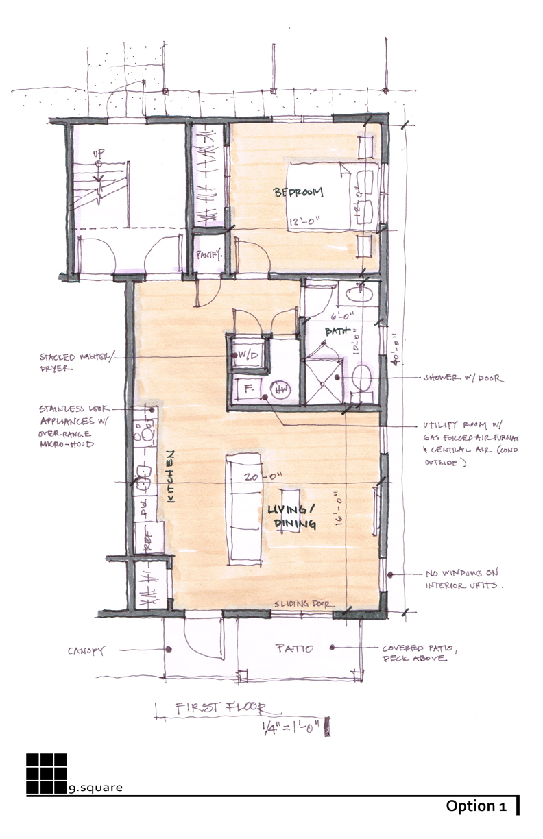 Option 1 | Typical Unit Floor Plan