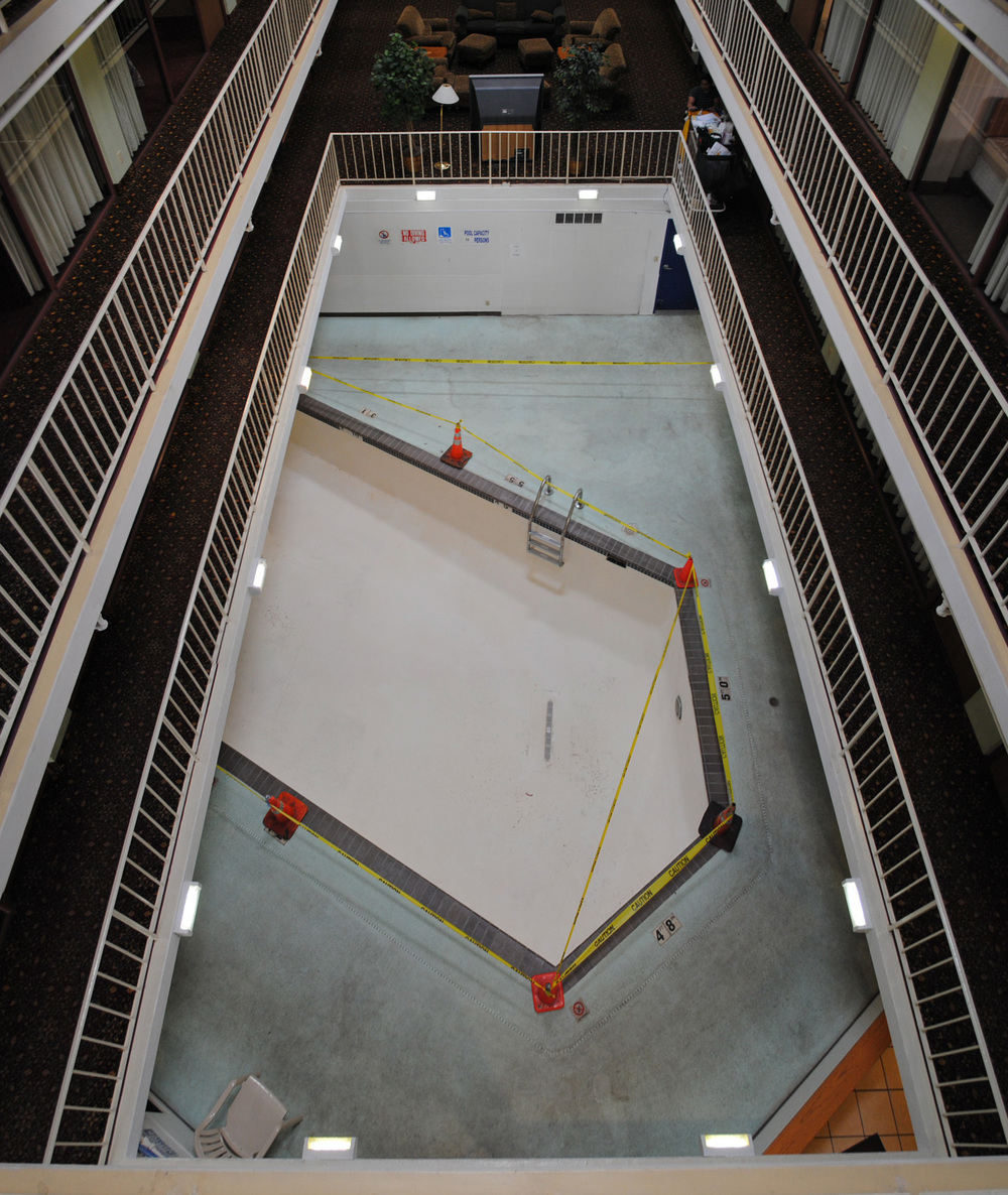 View of existing pool from above