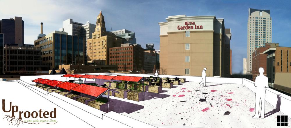 Conceptual Rendering of Rooftop Garden
