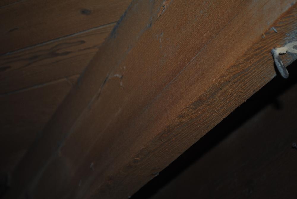 Coal Slag Media Blasting (paint &spray foam residue on wood)