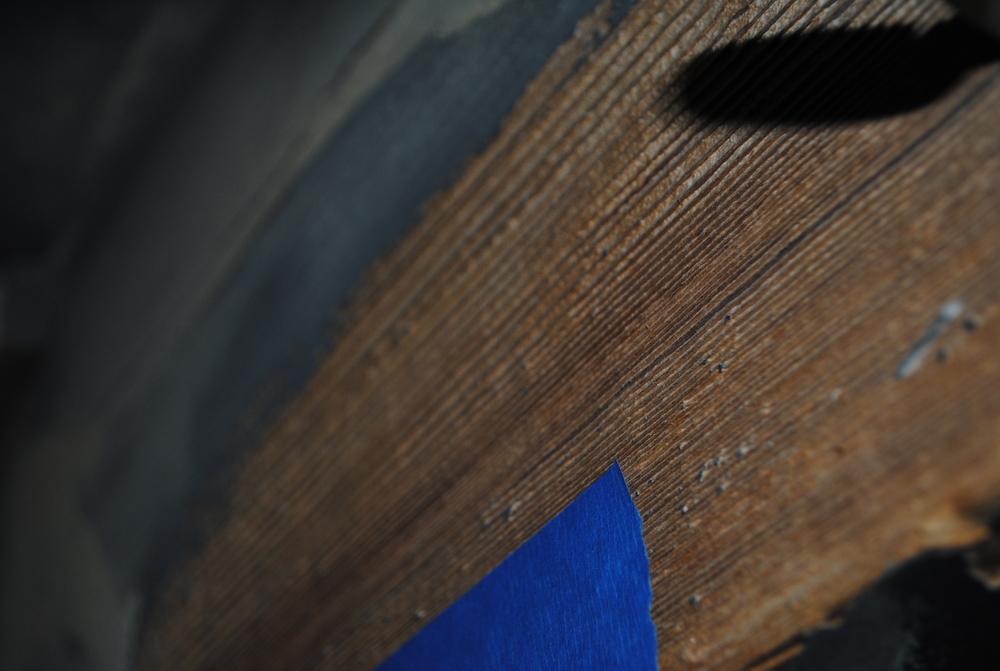 Dry Ice Blasting (paint & spray foam residue on wood)