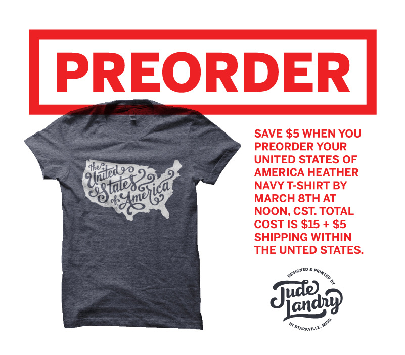 USA T-Shirt Preorder — Jude Landry