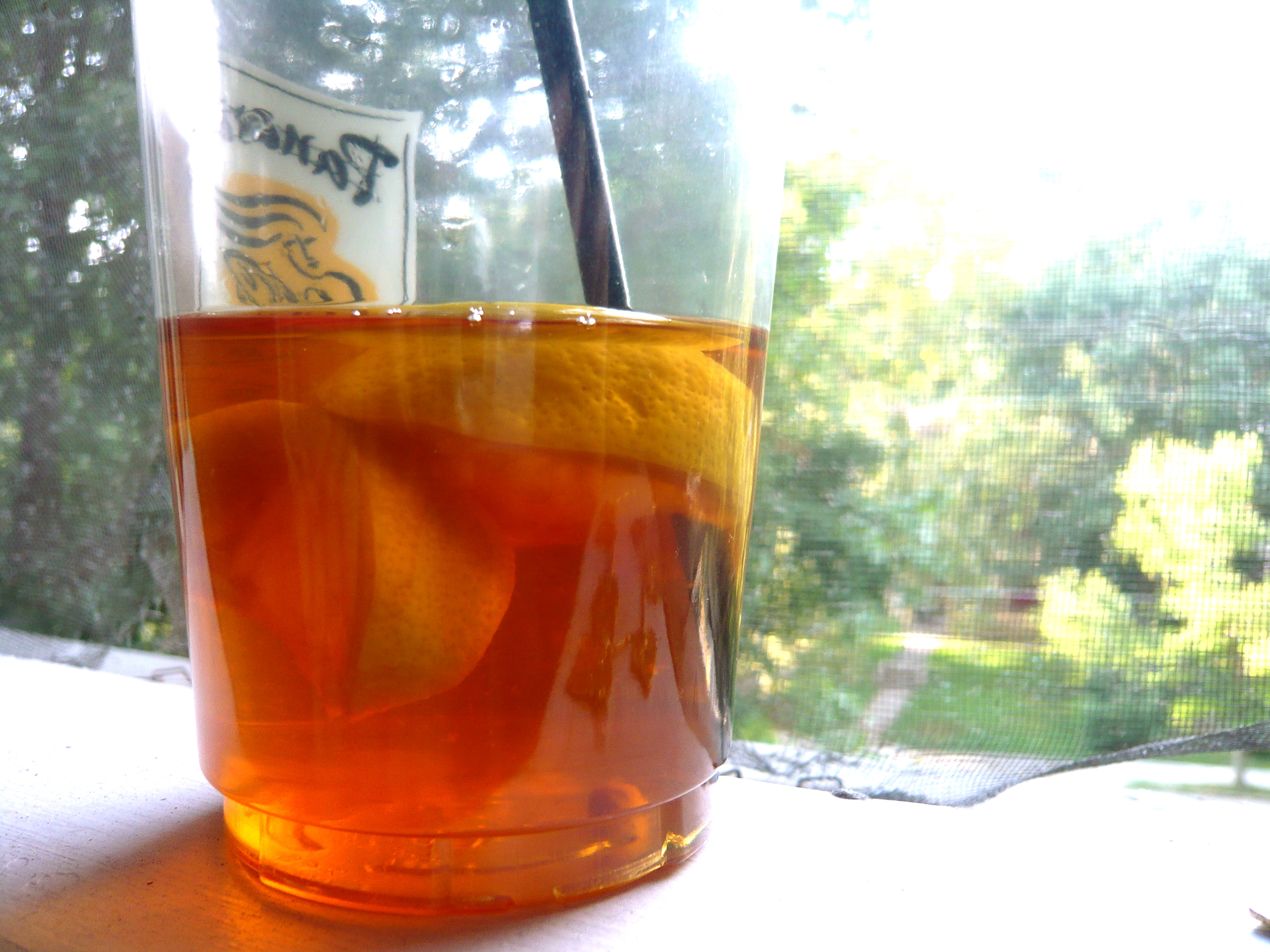 iced tea is perfect when the temperature hits 90.
