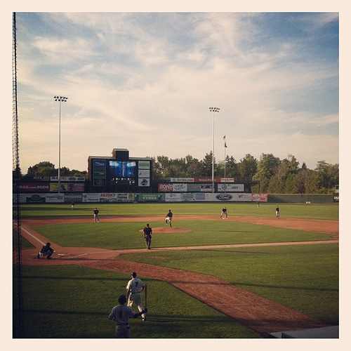 Labor Day game at Centennial Field, Vermont Lake Monsters v Aberdeen Iron Birds