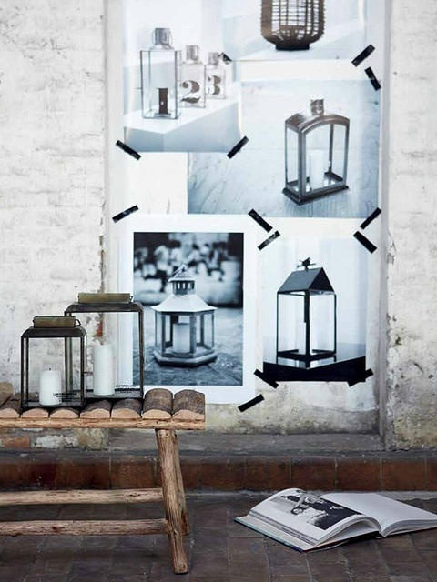 it's such a chic way to hang magazine pages and photos on your walls.