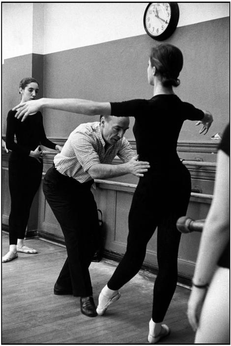 George Balanchine teaching at the School of American Ballet. 1959. Photograph by Henri Cartier-Bresson.