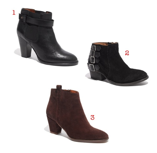 1. the lonny boot - $228  2. h by hudson encke suede boots - $295  3. the billie boot in suede $218