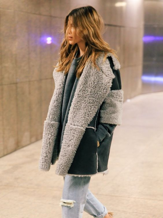 shearling lined jacket