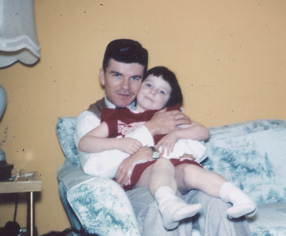 Edmund with his daughter Debbie cir. 1959