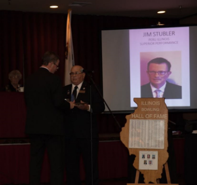 Jim Stubler's induction into Illinois Bowling Association Hall of Fame