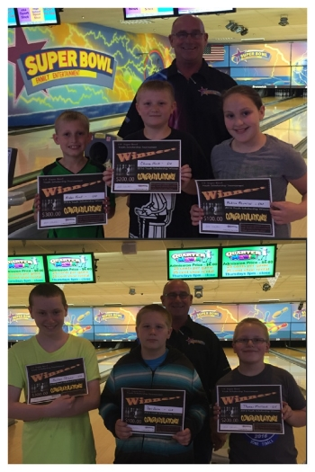 Top Photo Front (L-R): Aiden Kent, Chance Hank and Aubree Acuncius; Back: Bob Stubler Bottom Photo Front (L-R): Kelton Pelter, Ben Sousa, Thomas Matlock; Back: Bob Stubler