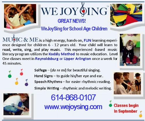a JOY-FILLED way to learn to read, write and sing music!