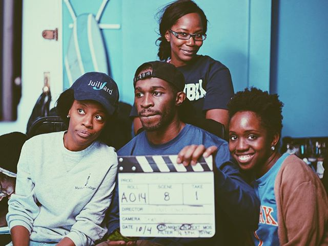 Producer Jennille Morris(L) and Director Lionel Cineas(C)focused on getting the job done. Ritha Pierre(Back) who kindly let us film in her apt. and Art Director Fabiola Cineas(R) posing for the camera. 📷: Wendell Sisnett. @sopoetiq #Cineasfilms #TheNurturingofMen #Crew #Shortfilm #Cinema #Film #Movies #independentfilm