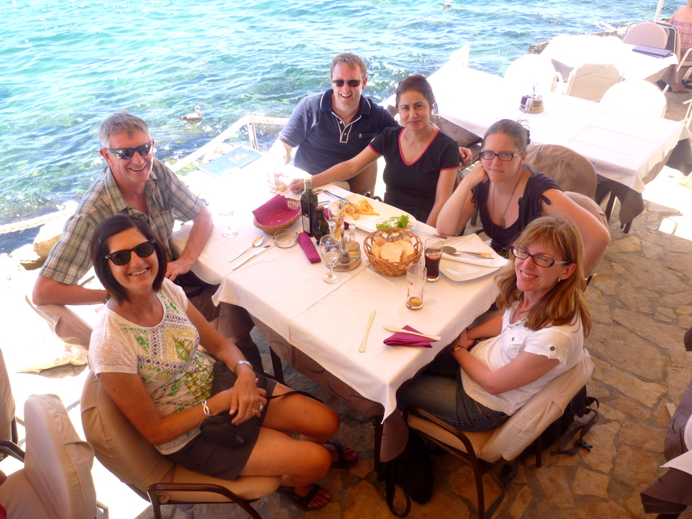Lazy lunch by the sea in Rovinj