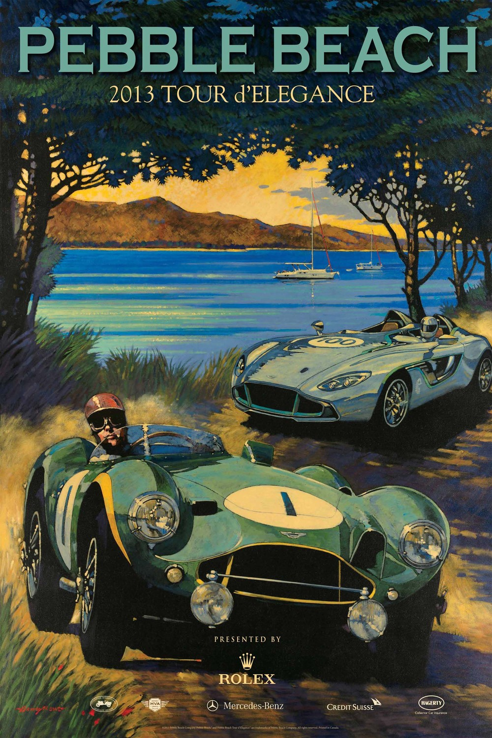 Poster Art by Barry Rowe, Used with permission Pebble Beach Concours d'Elegance