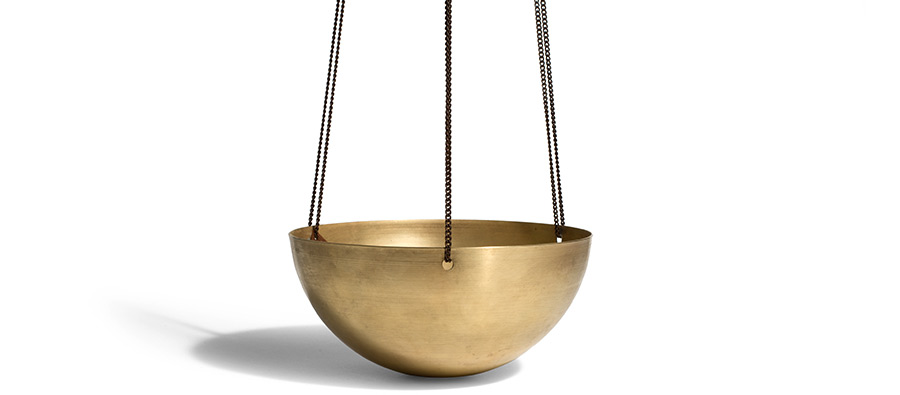 Solid Brass Planter, image courtesy Kaufmann Mercantile