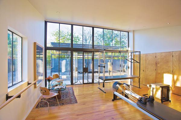 Pilates Studio by Susan Appleton Architecture. Photo by Craig D. Blackmon, FAIA.