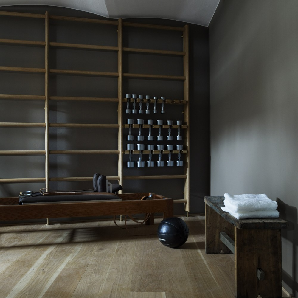 The gym at Stockholm's Ett Hem Hotel.  Photo by Maja Sten.