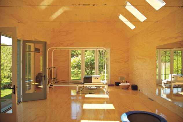 Pilates Studio in the home of Gweneth Paltrow