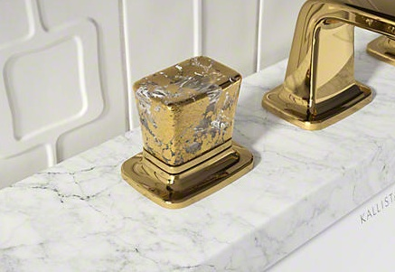 Gold Flake Crystal Handles, Courtesy Kallista