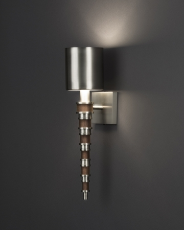 Topanga Sconce in Walnut, Courtesy Boyd Lighting
