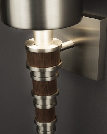 Topanga Sconce in Walnut, Detail, Courtesy Boyd Lighting