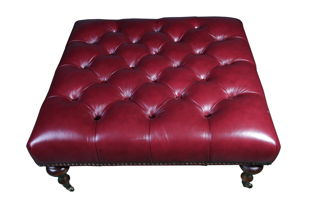 Squared Tufted Ottoman, courtesy Abbyson Living