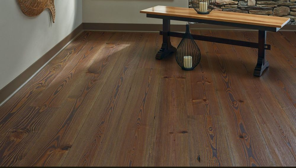 Lakehouse Collection, Heart  Pine Flooring; Courtesy Carlisle Wide Plank Floors