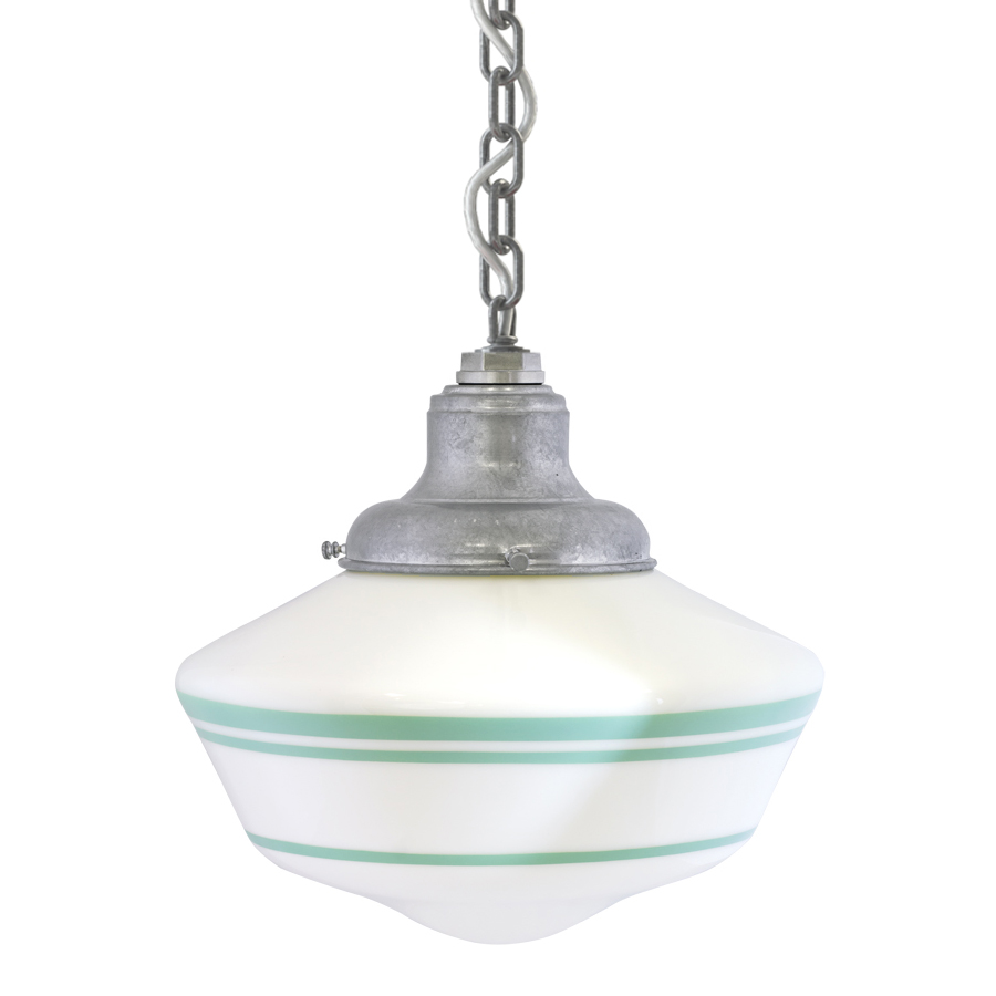 Chain Hung Pendant in Jadite, Courtesy Barn Light Electric