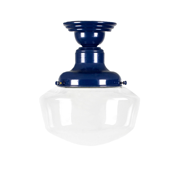 The  Principal Semi-Flush in Navy, Courtesy Barn Light Electric