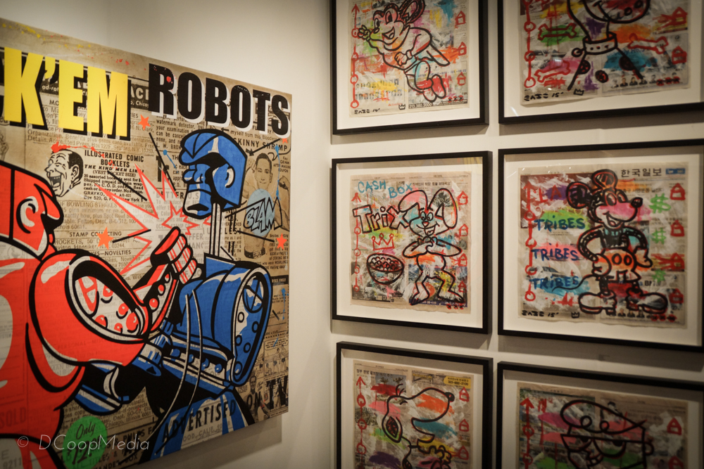 Rock-em Robots by Nelson De La Nuez; Street Art by Gary John