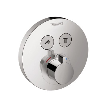 Shower Select Trim, Round, Courtesy Hansgrohe