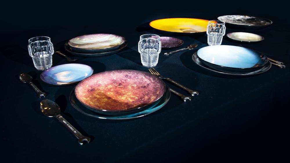 Cosmic Dinnerware, Machine Collection Glasses, Courtesy Seletti