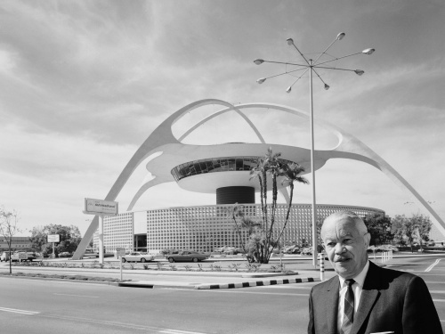 Paul R. Williams at the Los Angeles International Airport; Photo: Julius Shulman Photographic Archive, Research Library, The Getty Research Institute