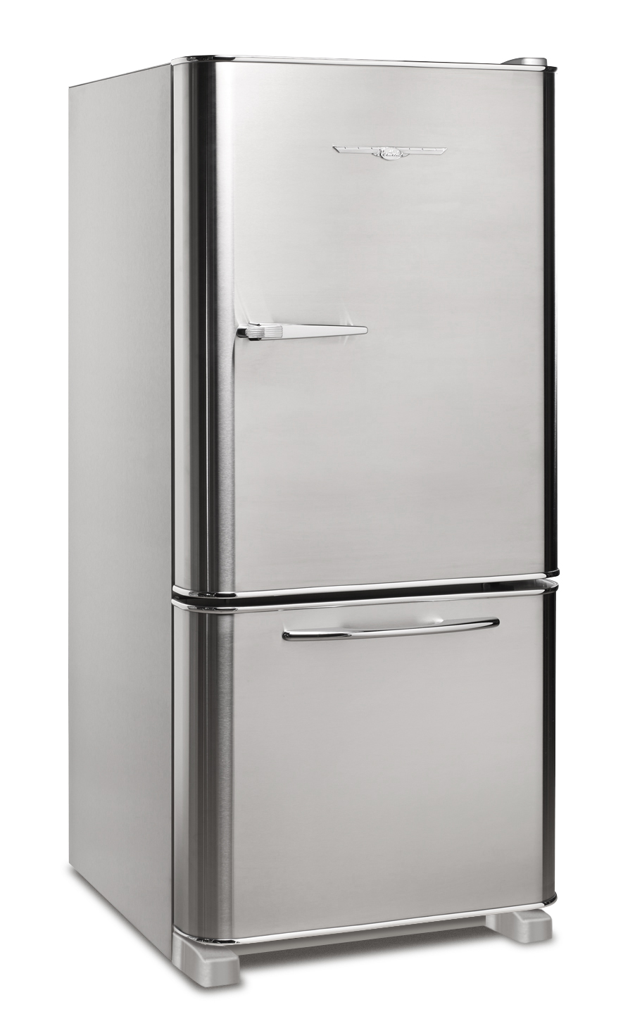 Retro Stainless Steel Refrigerator, Courtesy Elmira Stove Works
