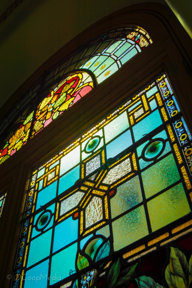 Stained Glass at The Parliament Buildings - Victoria, British Columbia, Canada. DCoopMedia