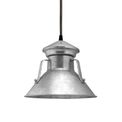 Colby Pendant in Galvanized.  Courtesy Barn Light Electric.