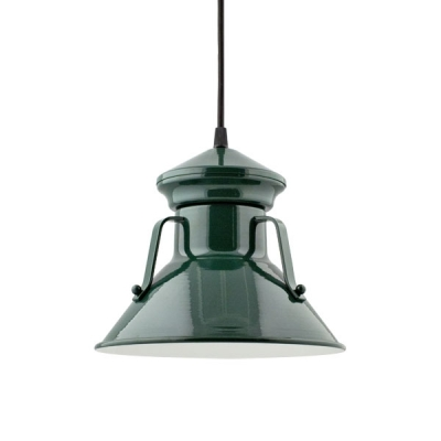 Colby Pendant in Dark Green.  Courtesy Barn Light Electric.