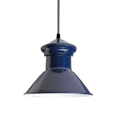 Cooper Pendant in Navy.  Courtesy Barn Light Electric.