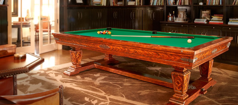 Pool Table, part of Brunswick's Newbury Collection.  Courtesy Brunswick.