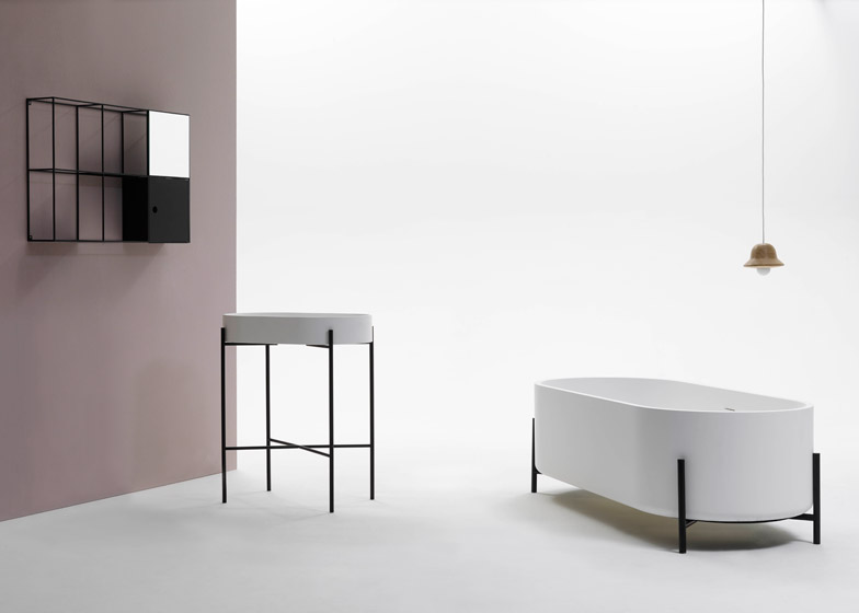 Felt Shelf, Stand Basin, Stand Bathtub by Norm Architects for Ex-T; Courtesy Ex-T