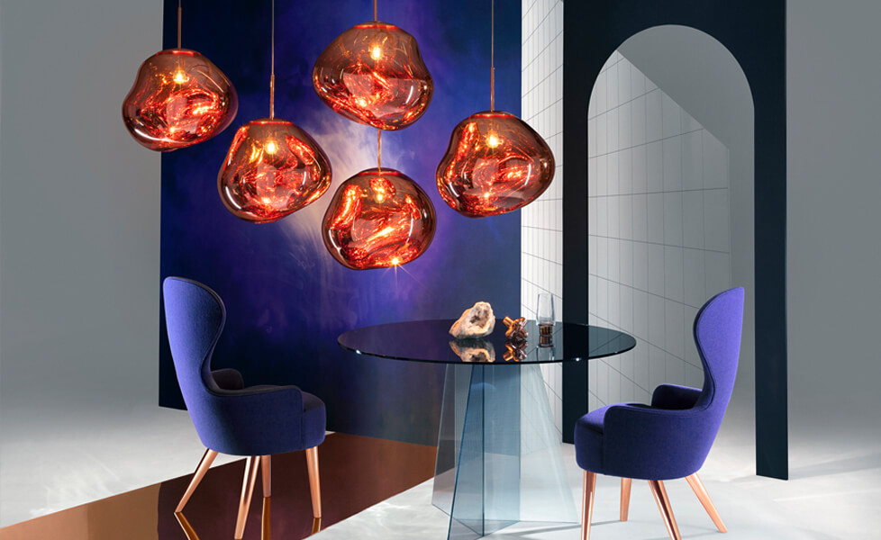 Melt Pendants, Courtesy Tom Dixon