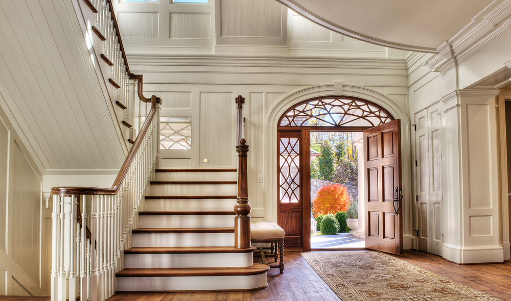 Bespoke newel by Carolina Custom Stairworks. South Carolina Residence designed by Stephen Fuller, built by Gabriel Builders // © tj getz