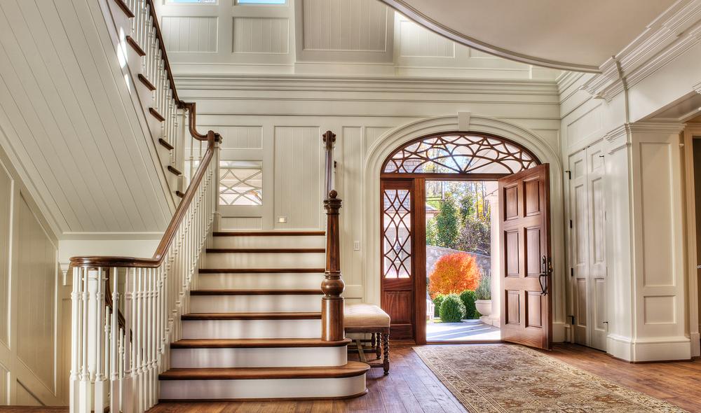 Bespoke newel by Carolina Custom Stairworks. South Carolina Residence designed by Stephen Fuller, built by Gabriel Builders | Photo by TJ Getz