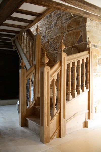 Elizabethan staircase by Heartwood Construction & Joinery | Photo courtesy Heartwood Construction & Joinery