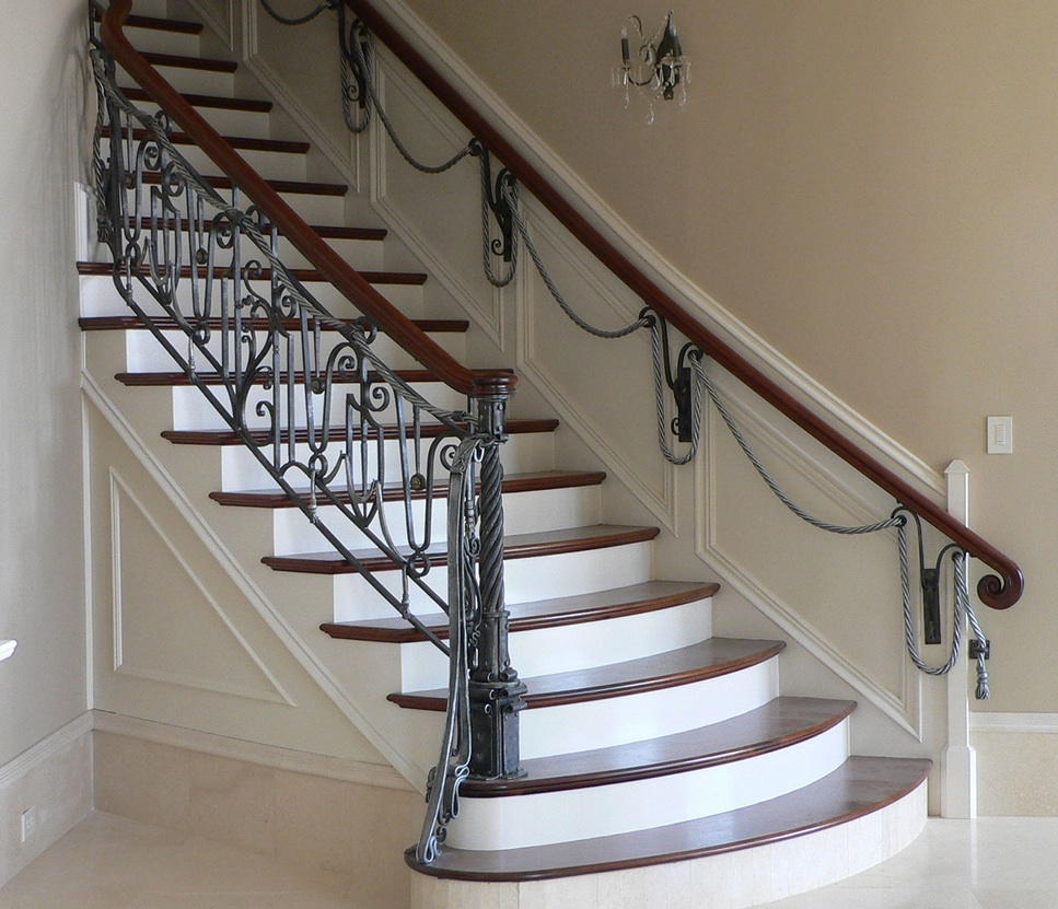 French inspired rail and newel in a Nashville residence by Maynard Studios // © maynard studios