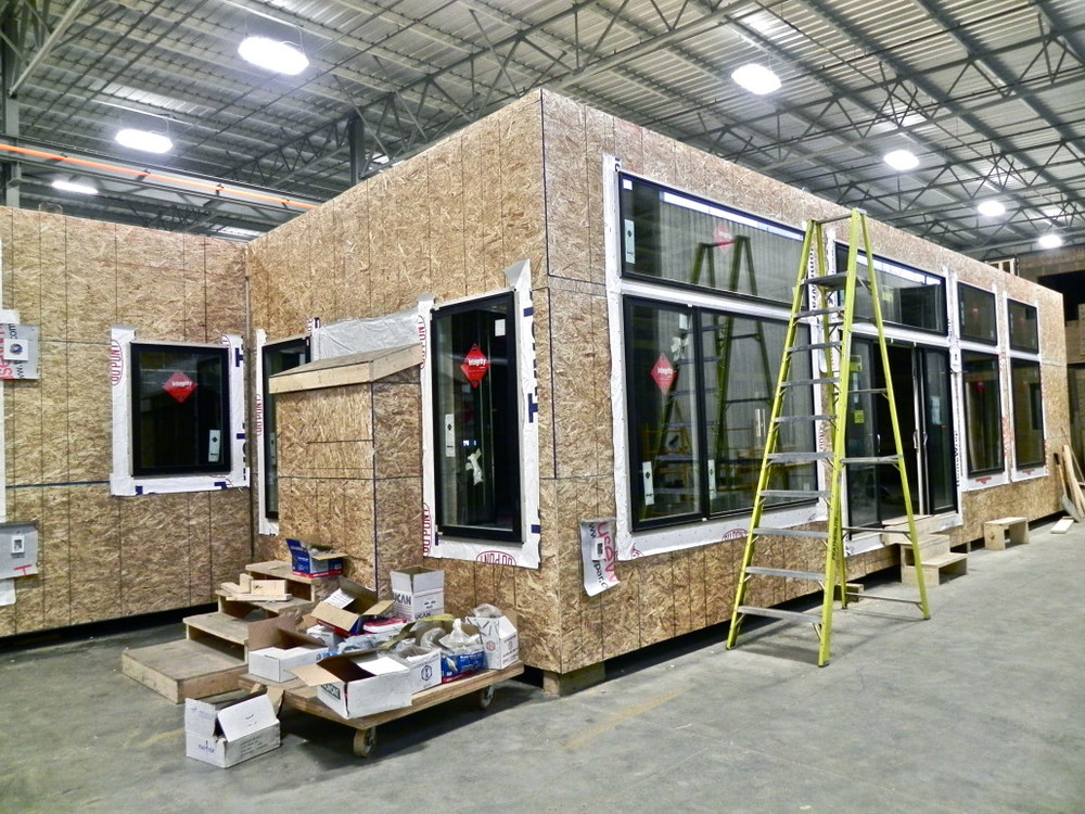 A prefabricated home under construction in the Karoleena factory | Image courtesy Karoleena