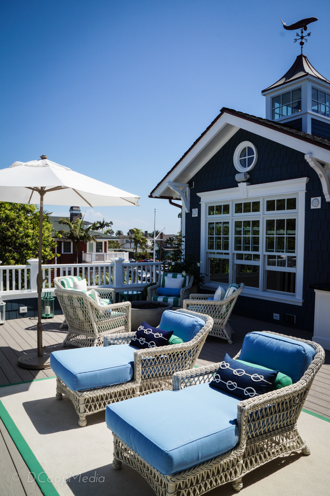 Outdoor terrace at the 2015 Coastal Living Showcase House in Coronado | Photo copyright DCoopMedia