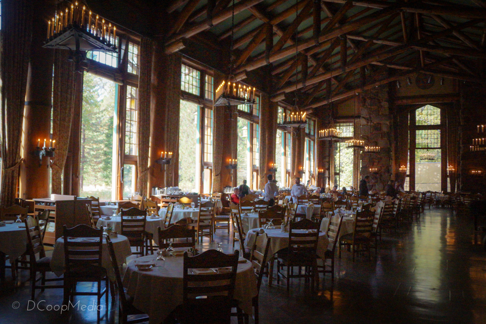 Grand Dining Room at Yosemite's Ahwahnee Hotel designed by husband & wife design team Ackerman & Pope © dcoopmedia, llc
